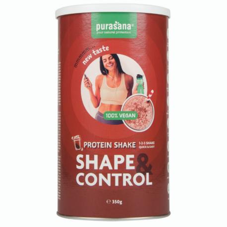 Purasana - Shape & Control Vegan protein shake chocolade (63% PROT) 350g