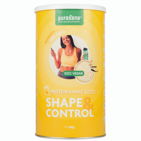 Purasana - Shape & Control Vegan protein shake vanille (64% PROT) 350g