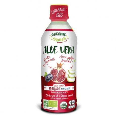 ORGANIC CRUNCH - aloe vera with pulp blueberry pomegranate 350ml