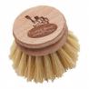 Fiber dishwashing brush head