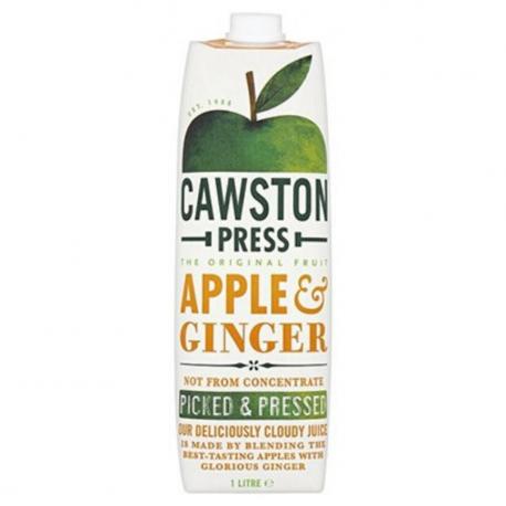 Cawston appelsap met gember -zonder toegevoegde suikers.