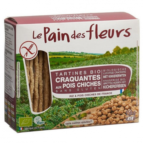 PAIN DES FLEURS : Crackers with Chickpea (Organic) 150g
