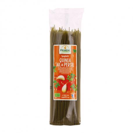 Priméal - Spaghetti wheat and quinoa, garlic and parsley Bio 500g