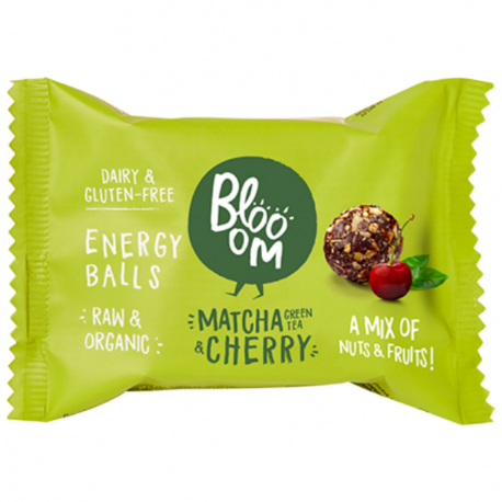 Blooom - Energy Balls Matcha Groene Thee & Kers & Chia 2x16g (Bio)