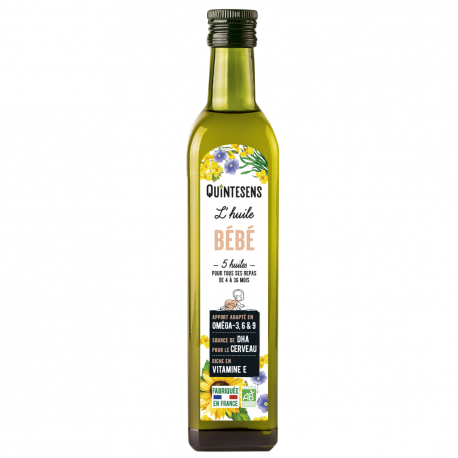 Quintesens - Mélange 5 huiles pour bébés 4-36 mois 250ml (bio)