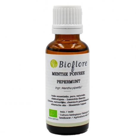 Bioflore - Huile Essentielle de menthe poivrée Bio 30ml