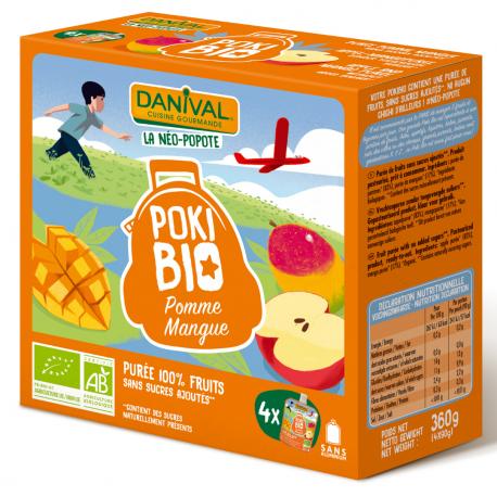Danival Poki Pomme et Mangue 4x100g, Danival, Compotes et yaourts