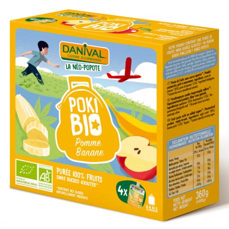 Danival - Appel Banana Organic 4x90g