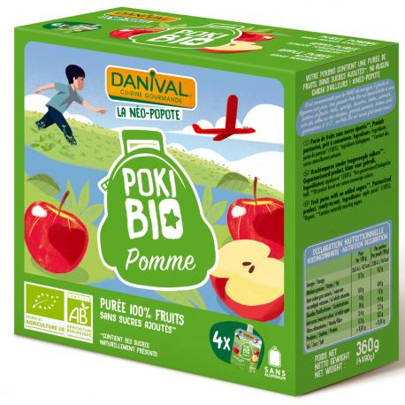 Danival - Appel Organic 4x90g