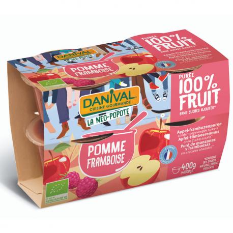 Apple Raspberry Purée Organic 4x100g