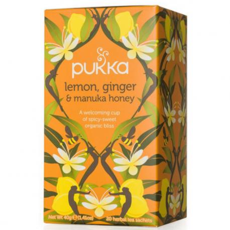Pukka - Thé citron, gingembre et miel manula 20x Bio