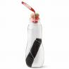 Waterfles Glas + Houtskool Rood