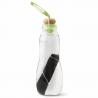Waterfles Glas + Houtskool Groen