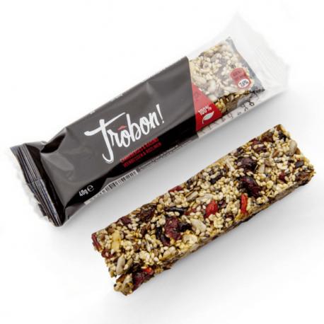 Trôbon - Barres céréales Canneberges & Raisins 40g