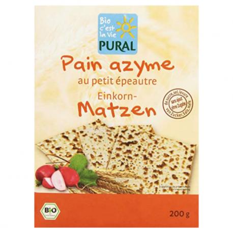 Pural - Ongedesemed brood met eenkoren volkerenmeel 200G