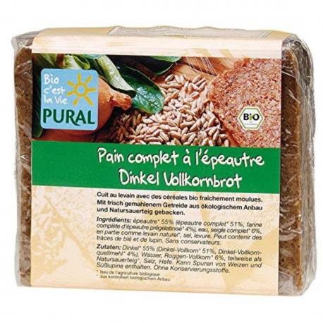 Pural - spelt volkoren brood 375G