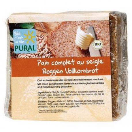 Pural - Rye Wholewheat Bread 375g