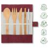 Bamboo cutlery set : Berry 80g