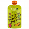 Set van 7 knijpzakjes Mango's, peren + papaja's 4+ Bio