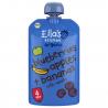 Set van 7 knijpzakjes Blauwe bessen, appels + bananen met vanille 4+ Bio