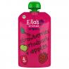 Set van 7 knijpzakjes Aardbeien, rabarber appels 4+ Bio