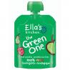Set van 6 knijpzakjes Fruit smoothie The Green One Bio