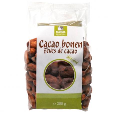 Marma cacaobonen 200g biologisch en rauw,Bessen, bonen en zaden