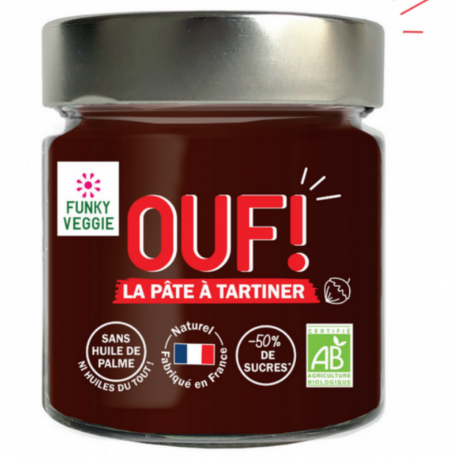 OUF! The hazelnut and cacao spread Organic 200g