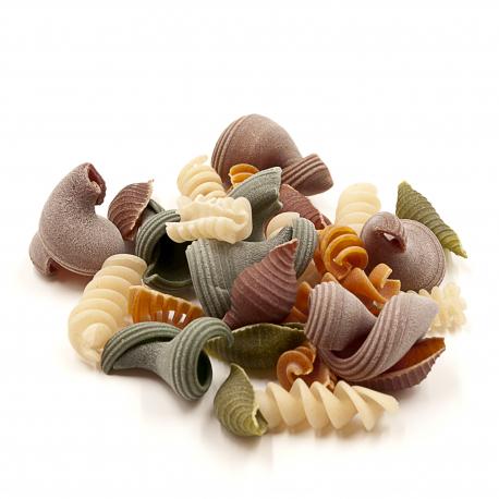 Pâtes d'épeautre multicolores 500g