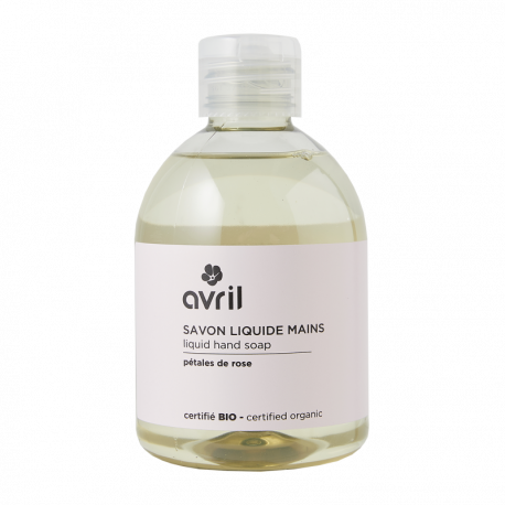 Avril - vloeibare zeep Rozenblaadjes - Biologisch - 300 ml