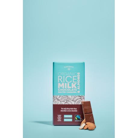 Chocolate Vegan Rice Syrup Almonds salted Caramel Fair Trade Organic