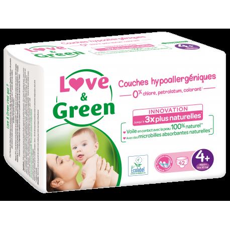 Love&Green - Couches hypoallergéniques T4 (de 9 à 20 kg)