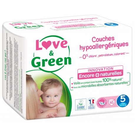 Love&Green - Couches hypoallergéniques T5 (de 12 à 25 kg)