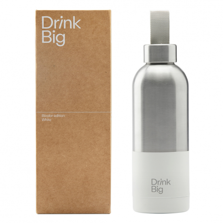 Bicolor Stainless Steel Bottle White