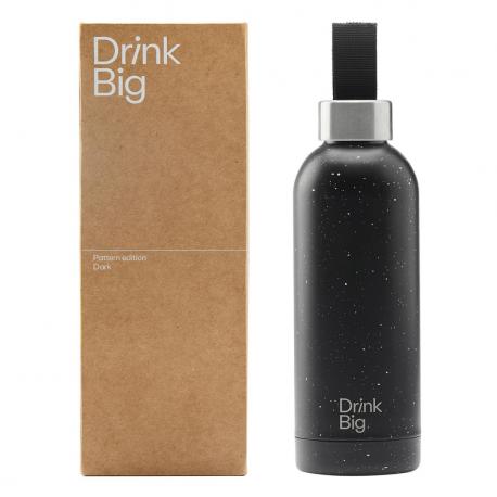 Pattern Stainless Steel Bottle Dark