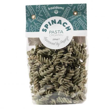 Kazidomi - Spinach & Rice pasta organic 250g