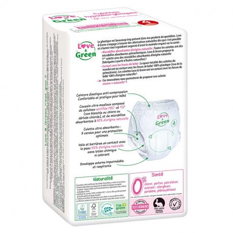 Love&Green - Culottes hypoallergéniques T4 (de 7 à 14 kg)