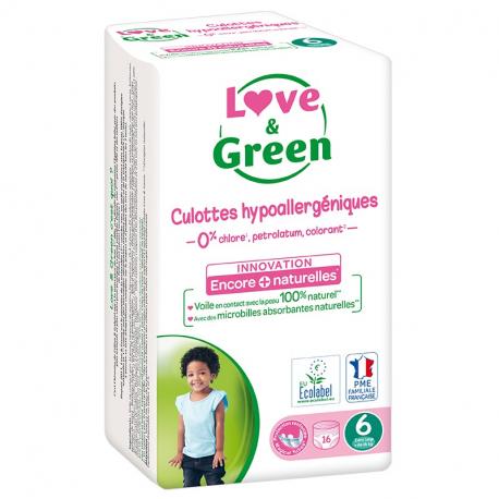 Love&Green - Culottes hypoallergéniques T6 (+16 kg)