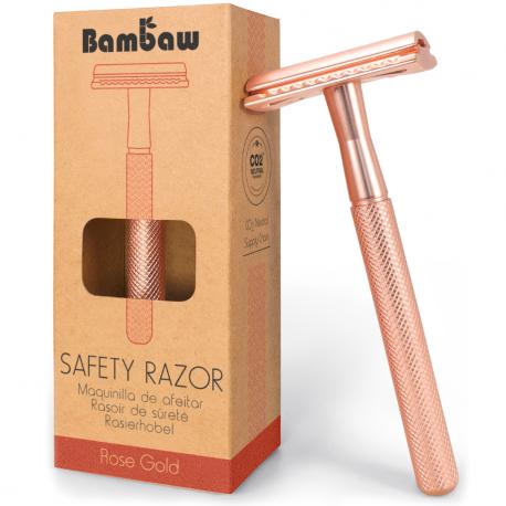 Safety razor metal pink