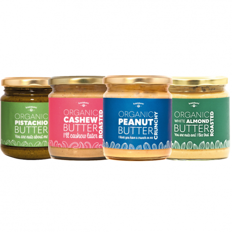 """Discovery Pack Nut Butters - """"The Gourmets"""" Organic"""