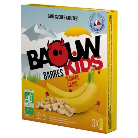 Barres Enfants Banane Cajou Bio