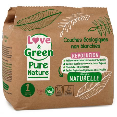 Couche Pure Nature T1 (2-5 kg)