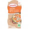 Groenten, Kalkoen van Poitou & Camargue Rijst + 8 maanden Bio