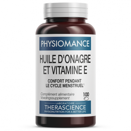 Huile d'Onagre et Vitamine E (100 caps. ),Voedingssupplement.