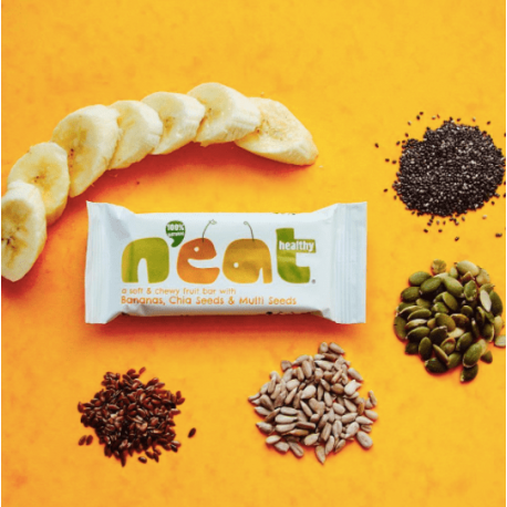 N'eat Healthy Bananen, Chia Zaden & Multi Zaden Vrucht Bar