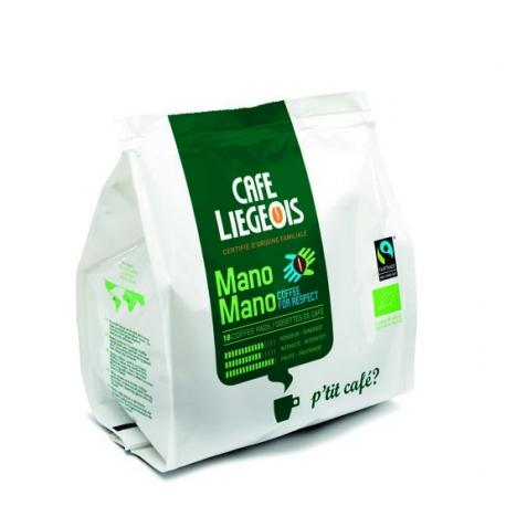 Café Pads Mano Mano (bio et équitable) x18, Café Liégeois, Café