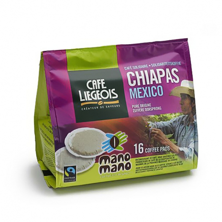 Café Pads Chiapas (équitable) x16, Café Liégeois, Café