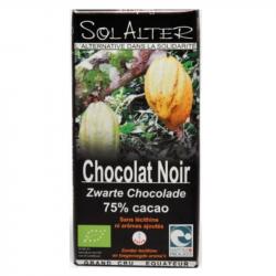 Chocolat 75% cacao 90g, SOLALTER, Chocolats