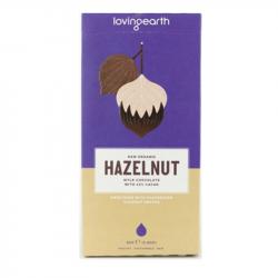 Loving Earth melkchocolade met hazelnoten (reep