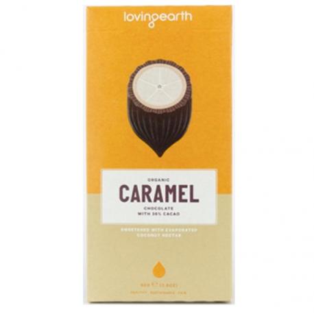 Chocolat Loving Earth au Caramel tablette 80g, LOVING EARTH,